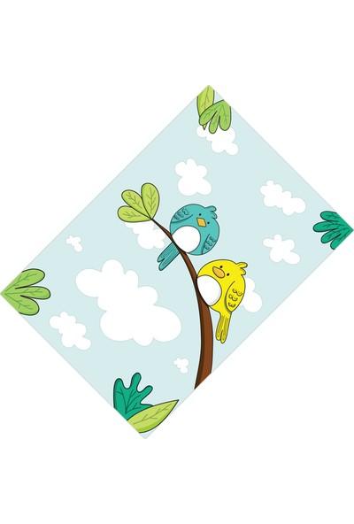Cici Halı Ağaç Bulut ve Kuşlar Erkek Çocuk Halısı-160x230