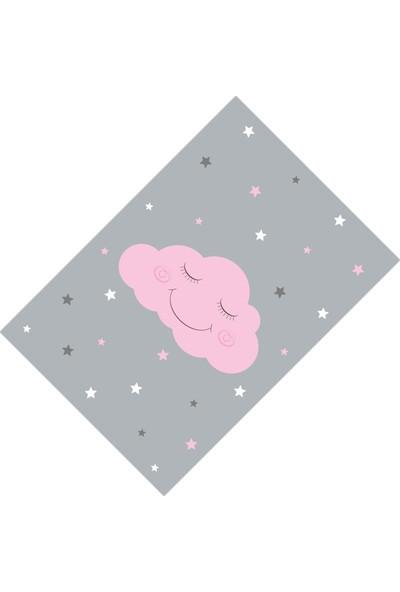 Cici Halı Sevimli Pembe Bulut Kız Çocuk Halısı-133x190