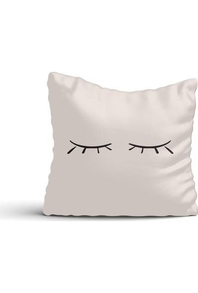 Cici Halı Uyuyan Gözler Kırlent Kılıfı-42x42