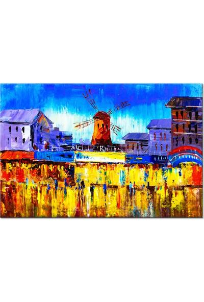 Dementia Art Şehir Kanvas Tablo 7348 20x30