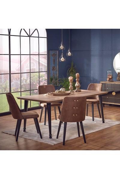 Abc Mobilya Event Yemek Masası + 4 Sandalye