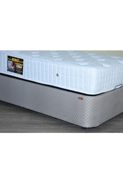 Bengi Tek Kişilik Sandıklı Baza Full Klasik Yatak Başlık 90 x 190