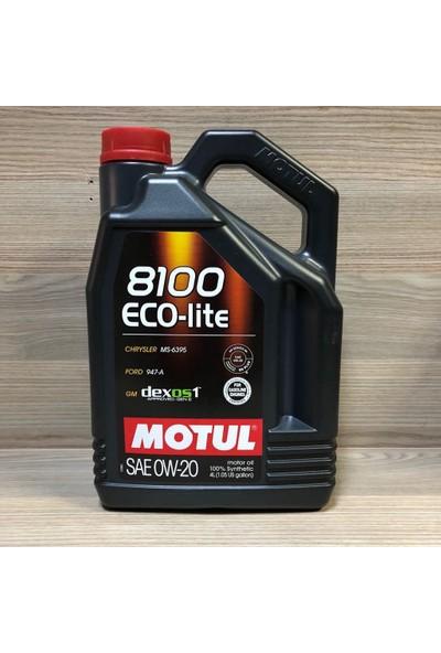 Motul Motul 8100 Eco-Lite 0W20 Dexos1 Gen2 4Lt %100 Sentetik Motor Yağı Honda