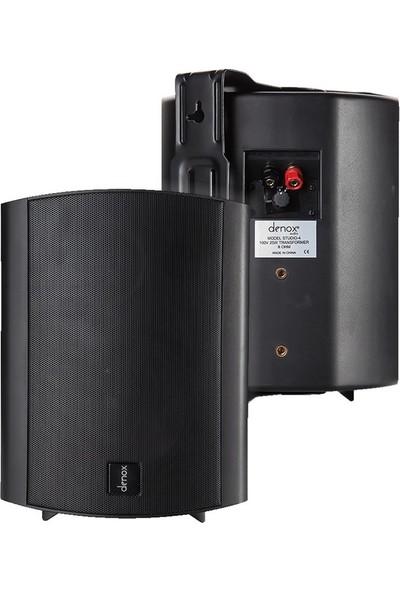 Denox Studio 4B - 6 İnç 200W 100V 8 Ohm Duvar Hoparlörü - Takım Siyah