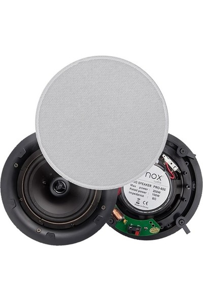 Denox Pro-655 - 16 Cm 200W 8Ohm 2-Yollu Asma Tavan Hoparlörü