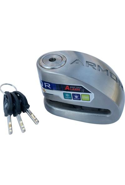 Armor Alarmlı Paslanmaz Çelik Disk Kilidi