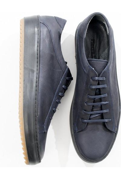 Deepsea Lacivert Bağcıklı Yeni Sezon Gündelik Deri Erkek Ayakkabı 1808930