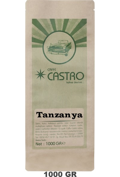 Castro Tanzanya Nitelikli Espresso Öğütülmüş Kahve 1 kg