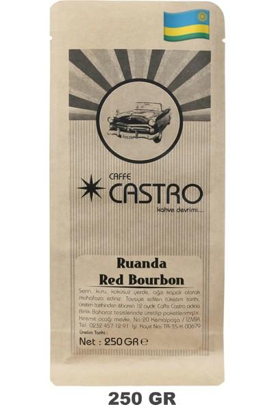 Castro Ruanda Red Bourbon Nitelikli Espresso Öğütülmüş Kahve 250 gr