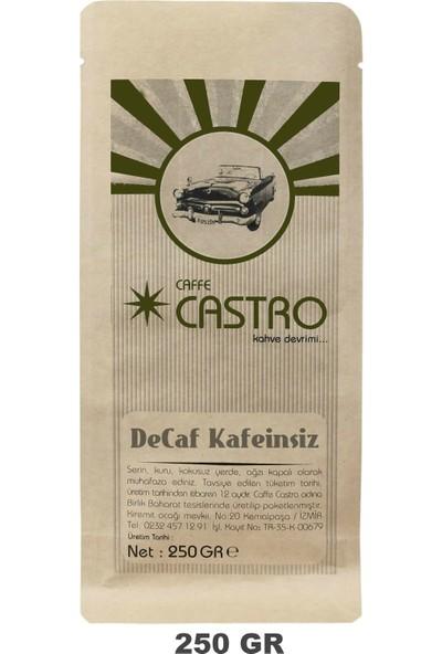 Castro Decaf Kafeinsiz Espresso Öğütülmüş Kahve 250 gr