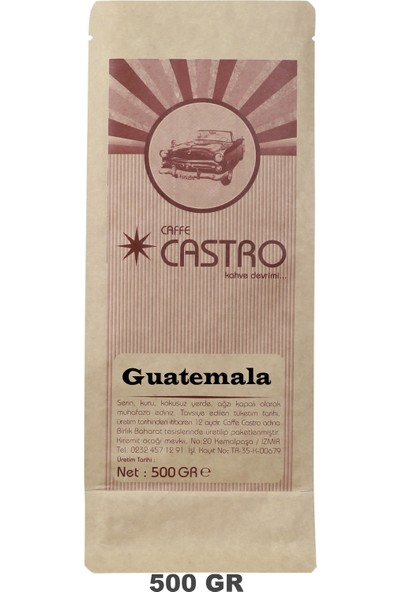 Castro Guatemala Santa Rosa Nitelikli French Press Öğütülmüş Kahve 500 gr