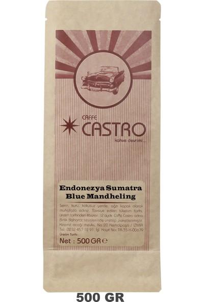 Castro Endonezya Sumatra Blue Mandheling Nitelikli French Press Öğütülmüş Kahve 500 gr