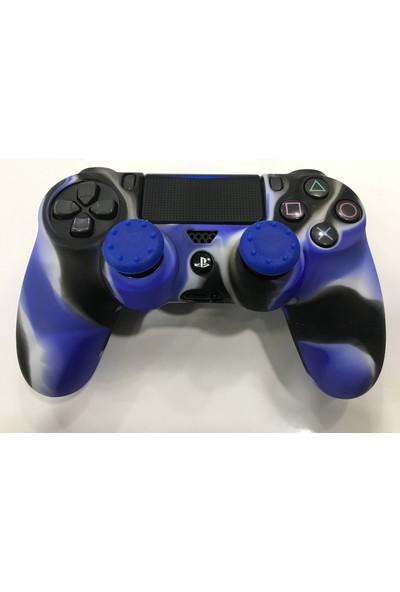 Kontorland Ps4 Dualshock4 Gamepad Koruyucu Kılıf Ve Analog Koruyucu (Mavi)