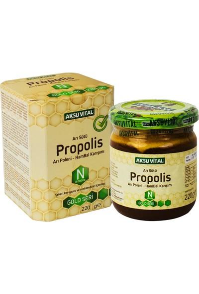 Aksu Vital Arı Sütü Propolis Arı Poleni Ham Bal Karışımı 220 gr