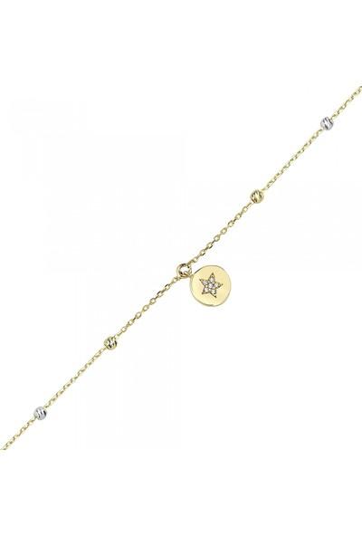 Koçak Gold FRV-14HL143 14 Ayar Dorika Toplu Altın Halhal Bileklik