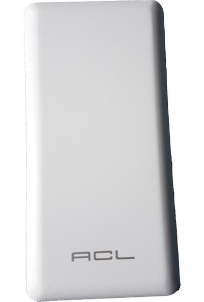 ACL Powewrbank 10000mAh 2 USB Taşınabilir Şarj Cihazı - Beyaz