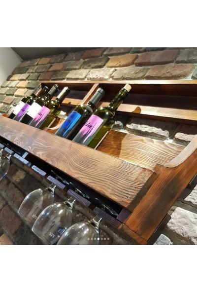 Le Atölye Mahsen Büyük Masif Ahşap Şaraplık