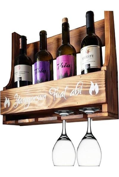 Le Atölye Mahsen Küçük Masif Ahşap Şaraplık