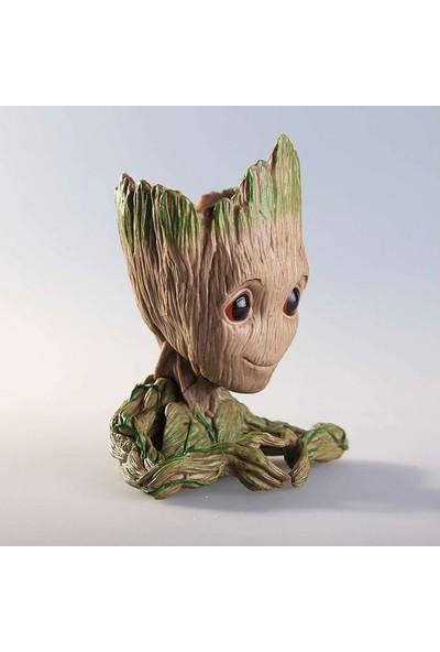 Le Atölye Baby Groot Figür Model Kalemlik & Vazo (Kalpli)