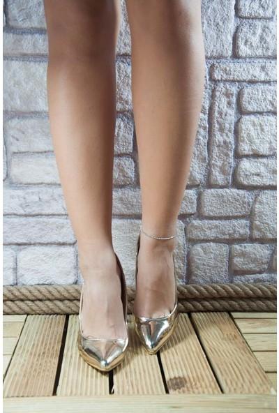 Noa Shoes Kadın Altın Ayakkabı
