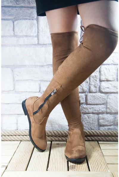 Noa Shoes Kadın Taba Çizme