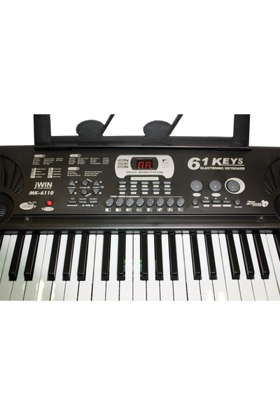 Jwin Mk-6110 61 Tuşlu Elektronik Org + Mikrofon+Nota Sehpa+Adaptör