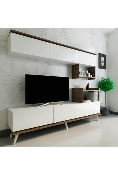 Arnetti Hazal Tv Ünitesi Beyaz Ceviz