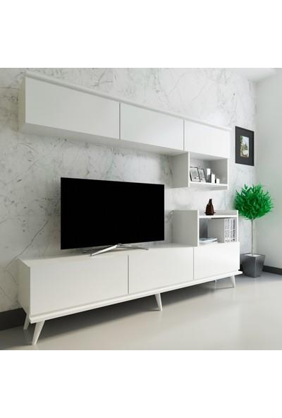 Arnetti Hazal Tv Ünitesi Beyaz