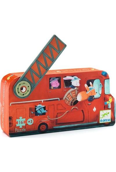 Djeco Dekoratif Puzzle 16 Parça The Fire Truck