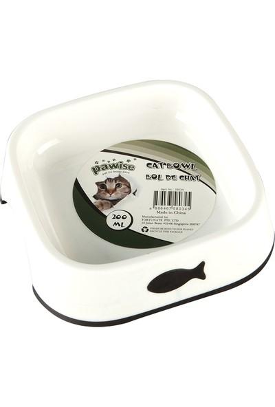 Pawise Balık Desenli Plastik Kedi Mama Kabı