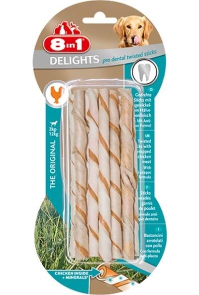 8in1 Delights ProDental Köpekler İçin Twisted Sticks 10lu