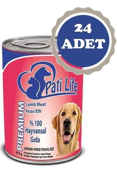 Pati Life Kuzu Etli Yetişkin Köpek Konservesi 400 gr 24' lü