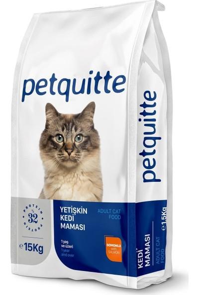 Petquitte Yetişkin Kedi Maması Somonlu 15 kg
