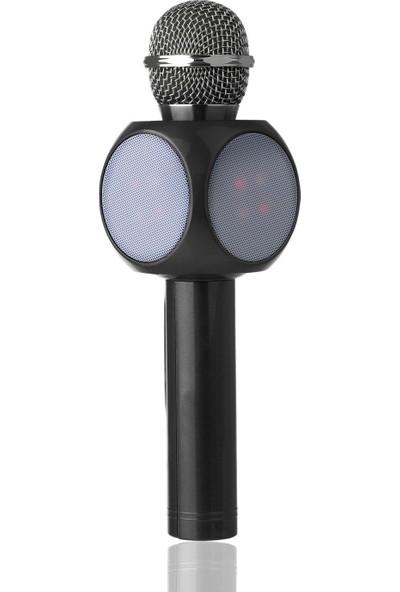 Polygold Bt Tf Usb Led Işıklı Karaoke Mikrofon + Aux Kablo