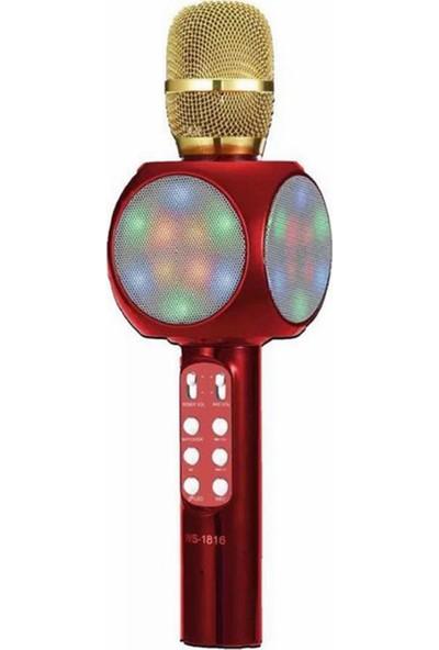Polygold Bt Tf Usb Led Işıklı Eğlenceli Karaoke Mikrofon
