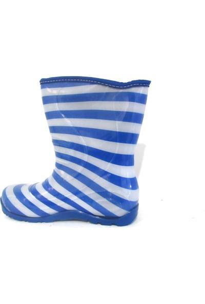 Sanbe Çocuk Yağmur Çizmesi Gri-Mavi