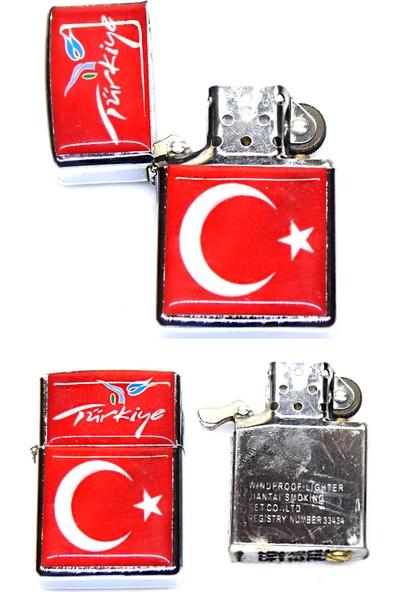 Afm Türk Bayraklı Model Benzinli Çakmak