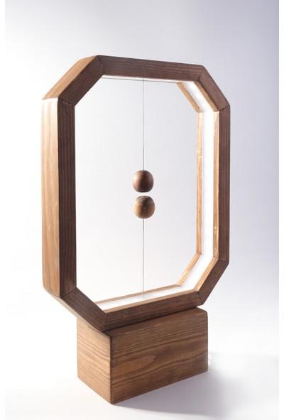 Okare Home Dekoratif Rustik Manyetik Anahtarı Led Aydınlatma Masa Lambası
