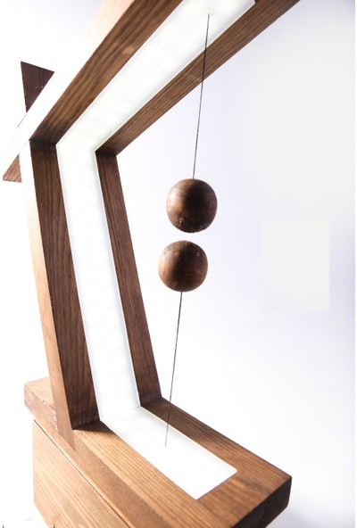 Okare Home Dekoratif Ahşap Rustik Manyetik Anahtarlı Led Aydınlatma Masa Lambası