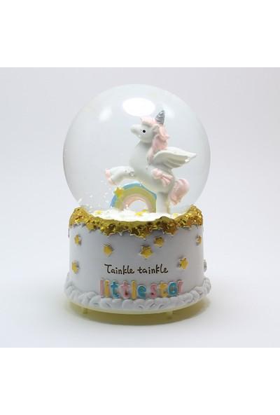 Modaroma little Star Unicorn Işıklı Kar Küresi