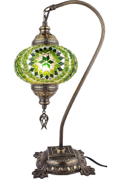 Demmex Mozaik Masaüstü Abajur Gece Lambası Komidin Çalışma Masası Lamba