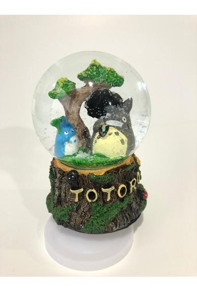 Bent Totoro Temalı Kar Küresi Ve Müzik Kutusu Sevimli Hediye
