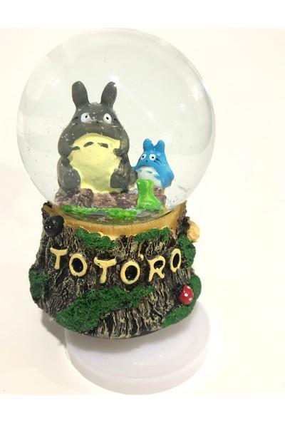 Bent Totoro Ve Minik Totoro Müzikli Kar Küresi Yeni