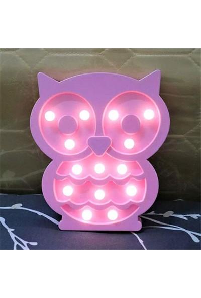Dizayn Hediye Baykuş Tasarımlı Led Gece Lambası