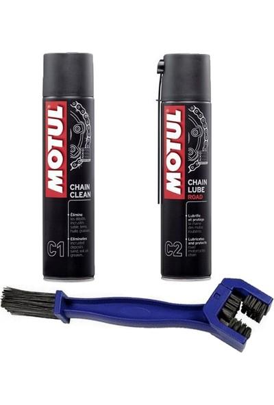 Motul Zincir Bakım Seti ( Motul C1 & C2 - Zincir Temizleme Fırçası )