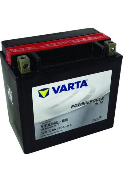 Varta Varta Ytx14L-Bs 12V12Ah Akü Harley Davıdson Roadster Superlow Iron Sportster 883, Vrsc 1130, Custom Nıghtster 1200, Ktm Xc
