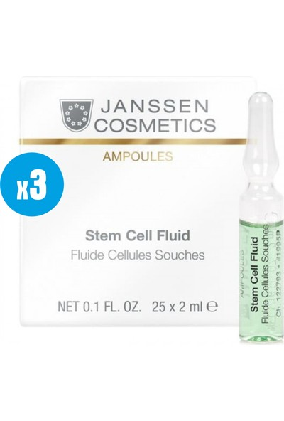 Janssen Cosmetic Stem Cell Cellues S Fluid ( Anti Aging) - 3 Adet x 2ml