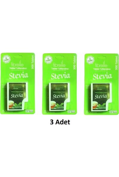 Fibrelle Stevia Tatlandırıcı 300 Tablet 3 Adet
