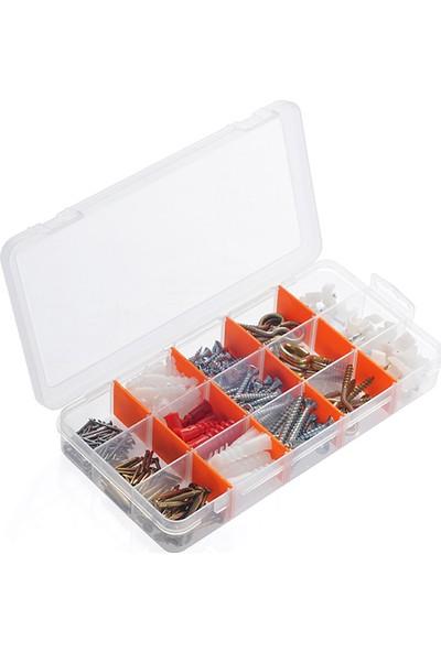 Super-Bag 15 Bölmeli Beta Organizer Ve Vida, Çivi, Dübel Seti - ASR5005