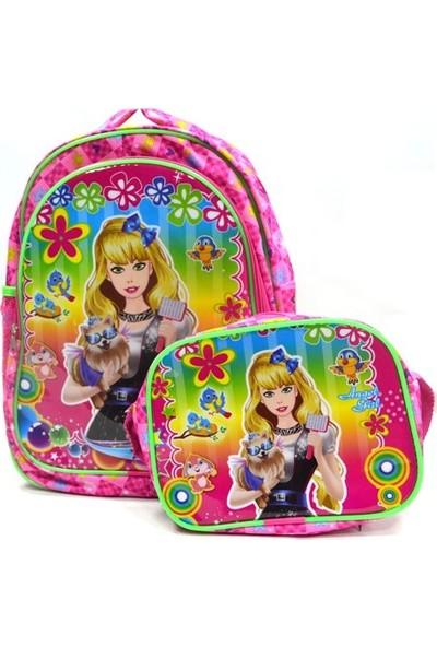 Mikro Angel Girls Okul + Beslenme Çantası 714